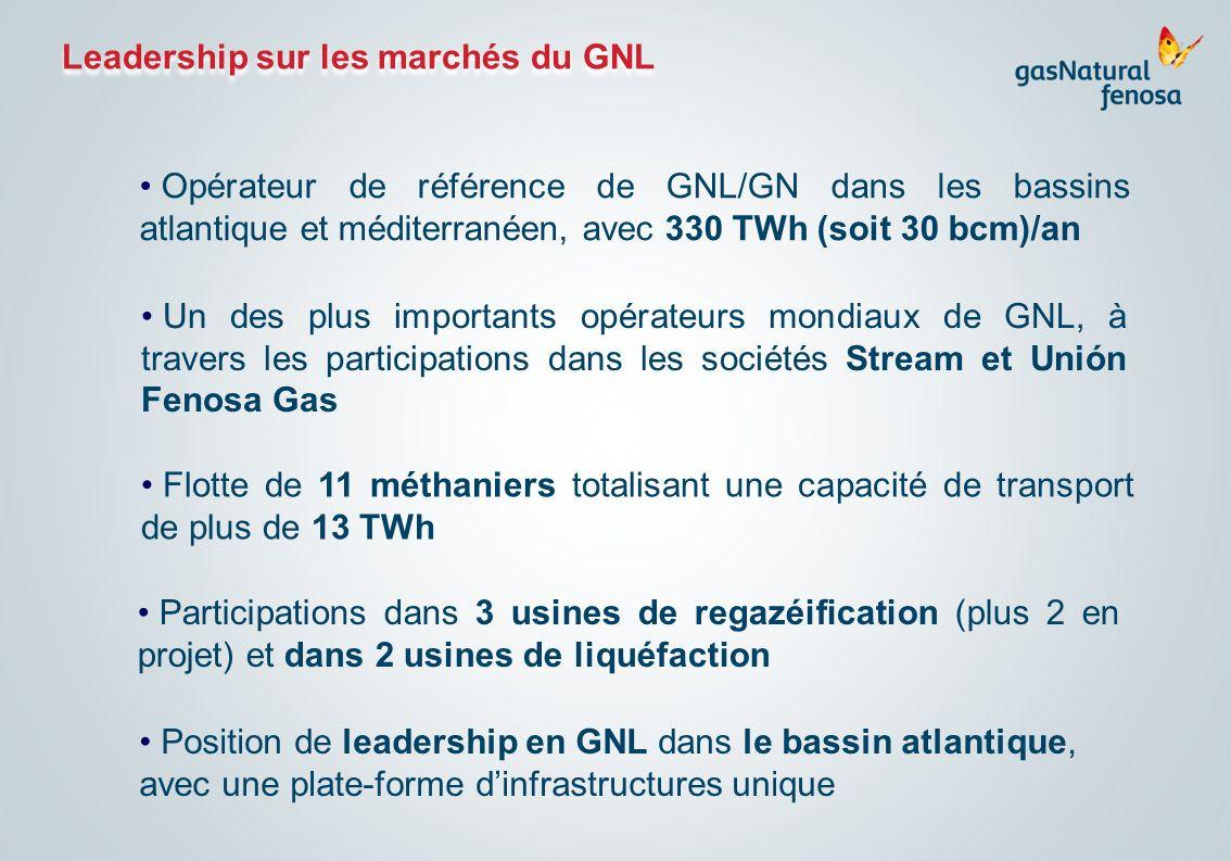 Leadership sur les marchés du GNL