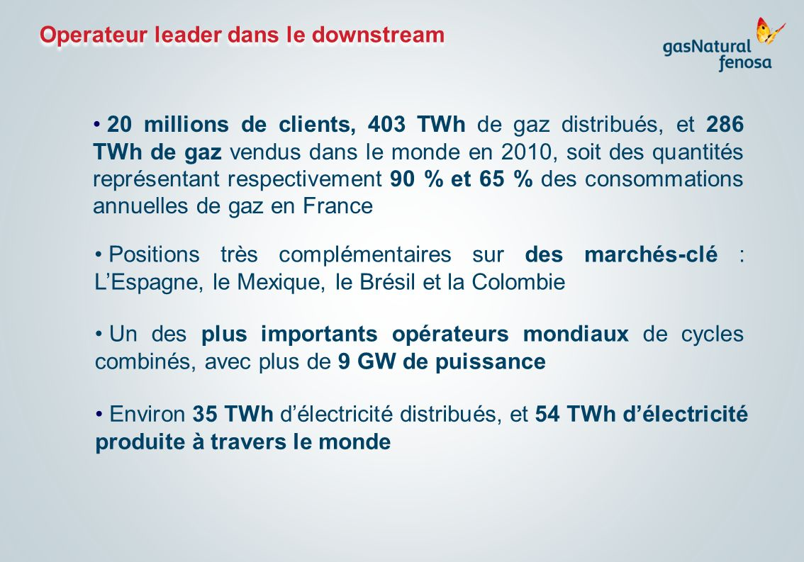 Operateur leader dans le downstream