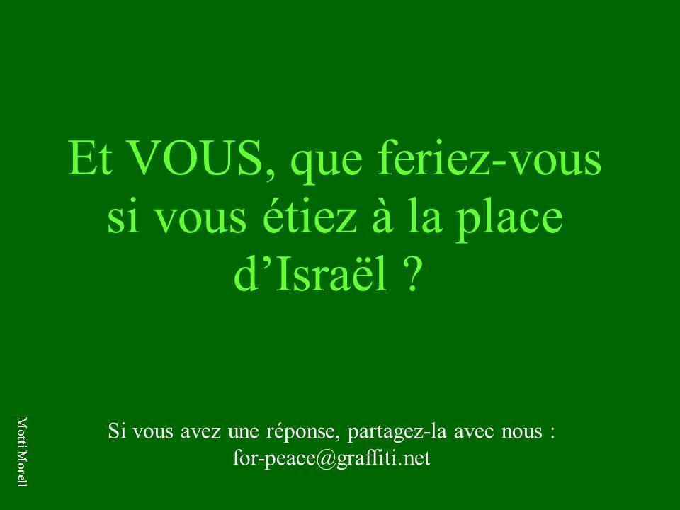Et VOUS, que feriez-vous si vous étiez à la place d'Israël