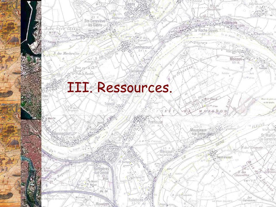 III. Ressources.