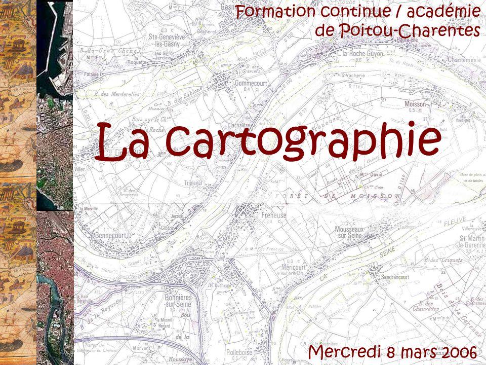 La cartographie Formation continue / académie de Poitou-Charentes