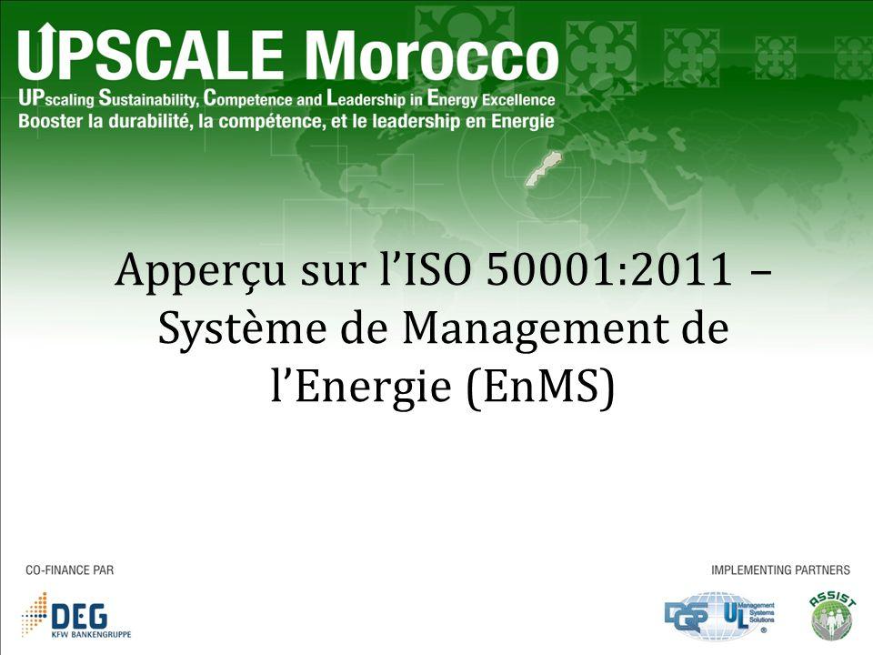 Apperçu sur l'ISO 50001:2011 – Système de Management de l'Energie (EnMS)