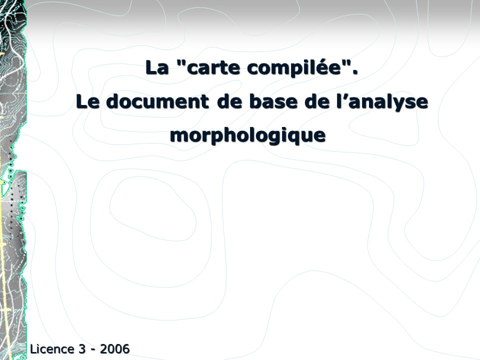 Le document de base de l'analyse morphologique