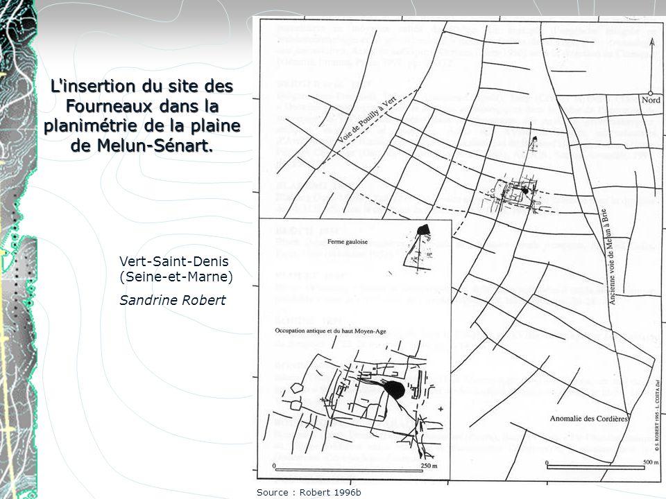 L insertion du site des Fourneaux dans la planimétrie de la plaine de Melun-Sénart.
