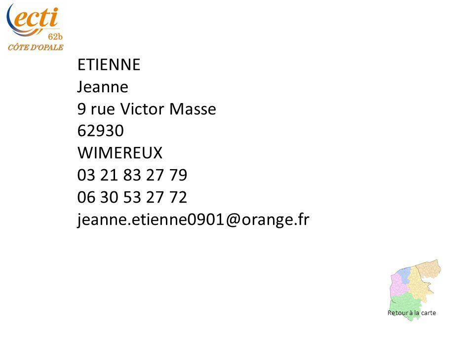 ETIENNE Jeanne 9 rue Victor Masse 62930 WIMEREUX 03 21 83 27 79
