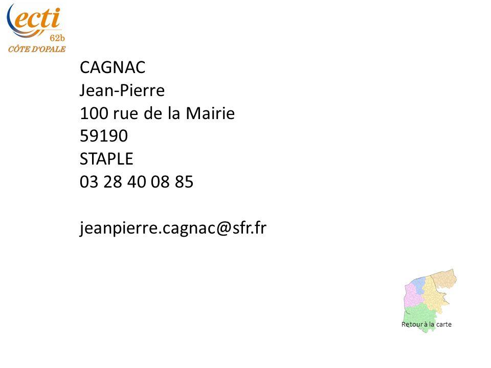 CAGNAC Jean-Pierre 100 rue de la Mairie 59190 STAPLE 03 28 40 08 85