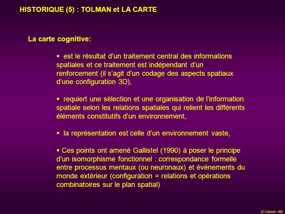 HISTORIQUE (5) : TOLMAN et LA CARTE