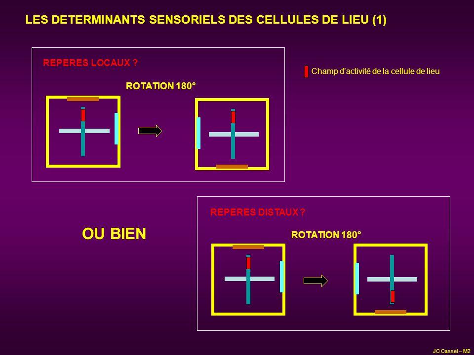 OU BIEN LES DETERMINANTS SENSORIELS DES CELLULES DE LIEU (1)