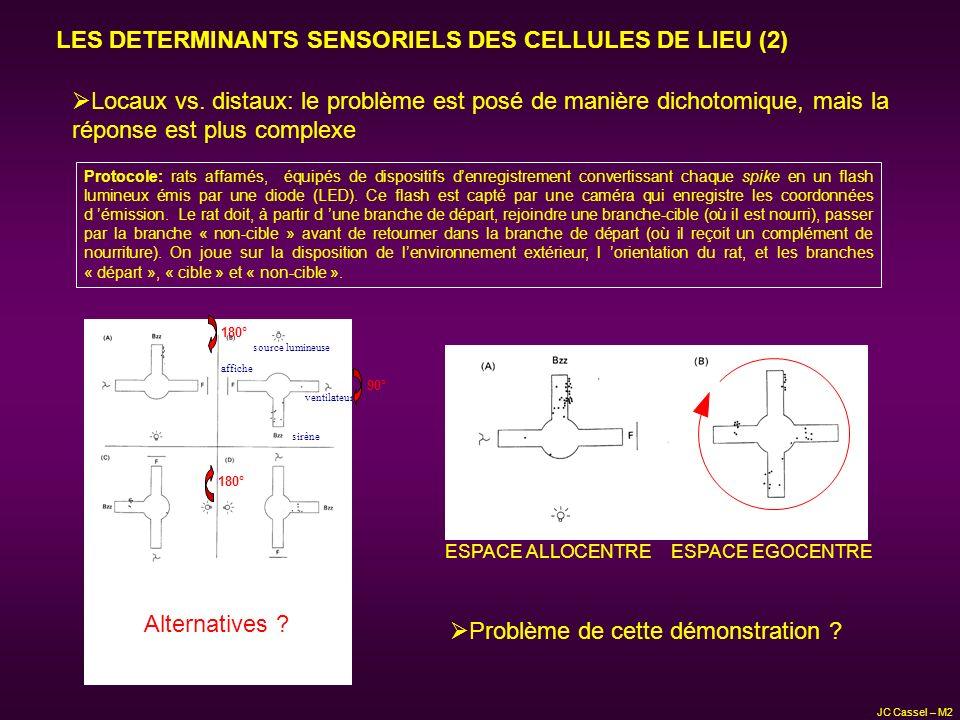 LES DETERMINANTS SENSORIELS DES CELLULES DE LIEU (2)