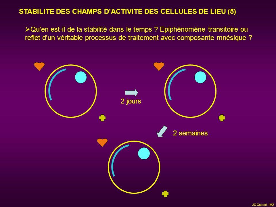 STABILITE DES CHAMPS D'ACTIVITE DES CELLULES DE LIEU (5)