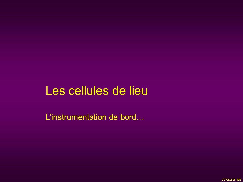 Les cellules de lieu L'instrumentation de bord… JC Cassel – M2