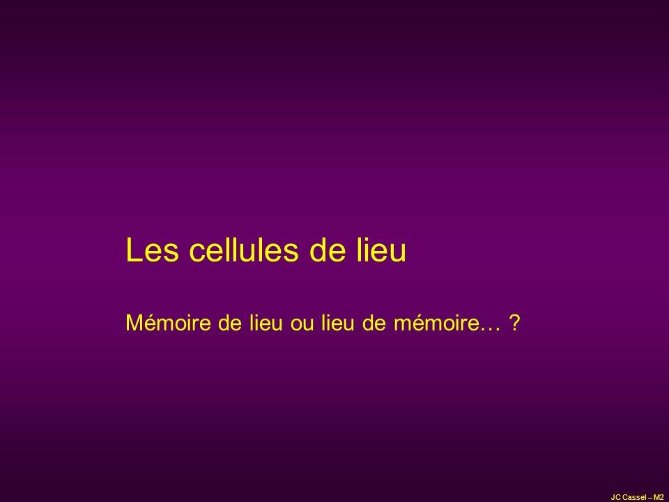 Les cellules de lieu Mémoire de lieu ou lieu de mémoire…