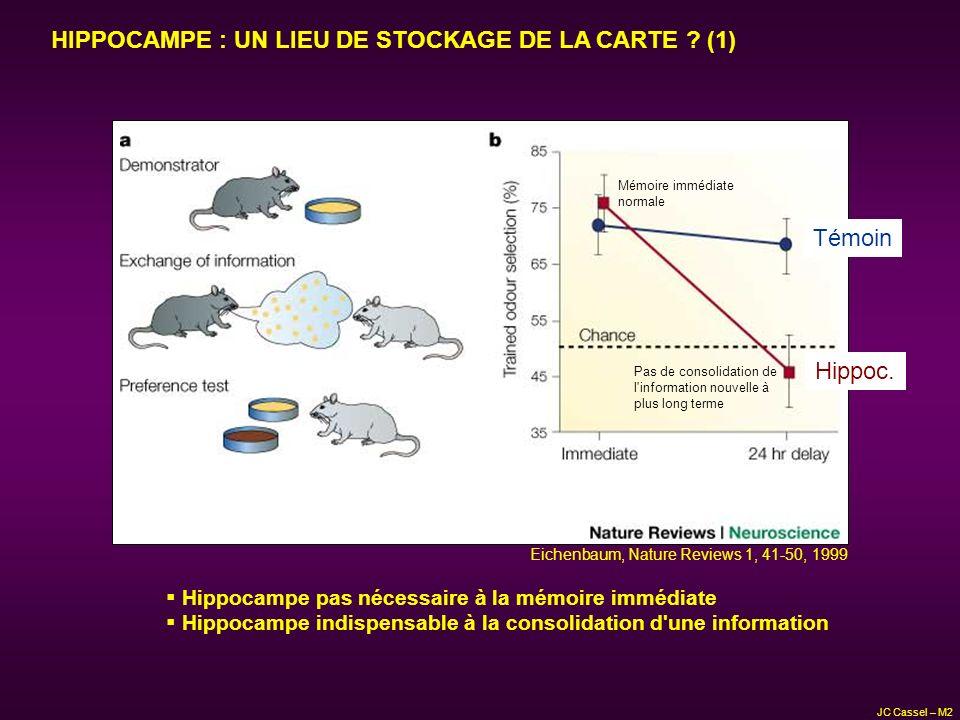 HIPPOCAMPE : UN LIEU DE STOCKAGE DE LA CARTE (1)
