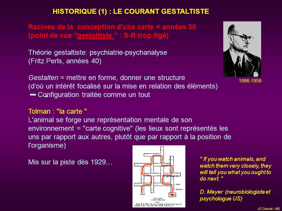 HISTORIQUE (1) : LE COURANT GESTALTISTE