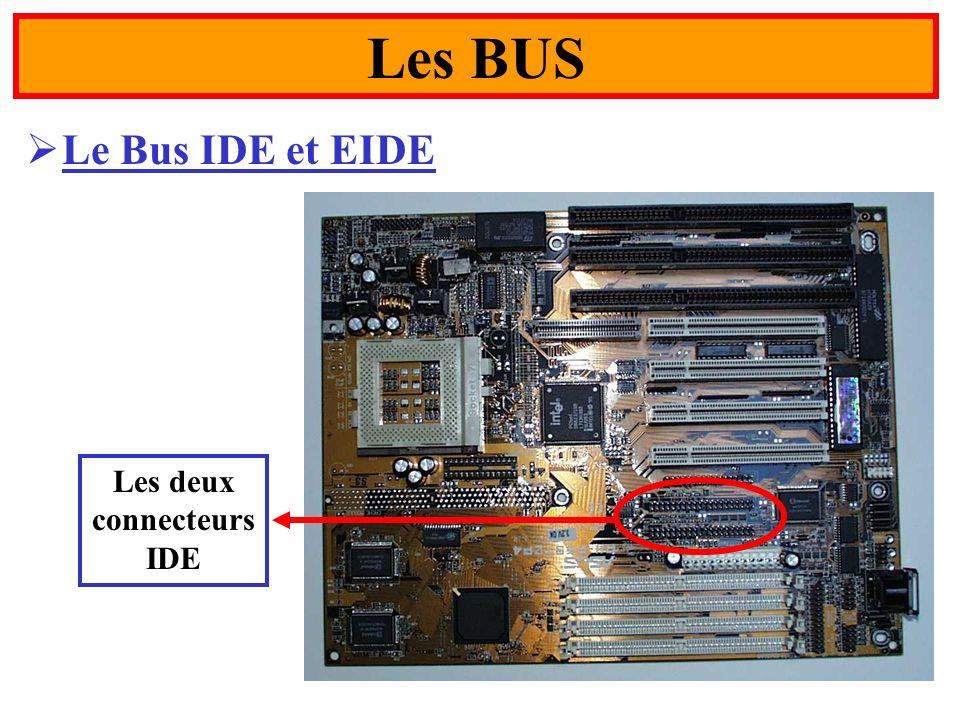 Les BUS Le Bus IDE et EIDE Les deux connecteurs IDE