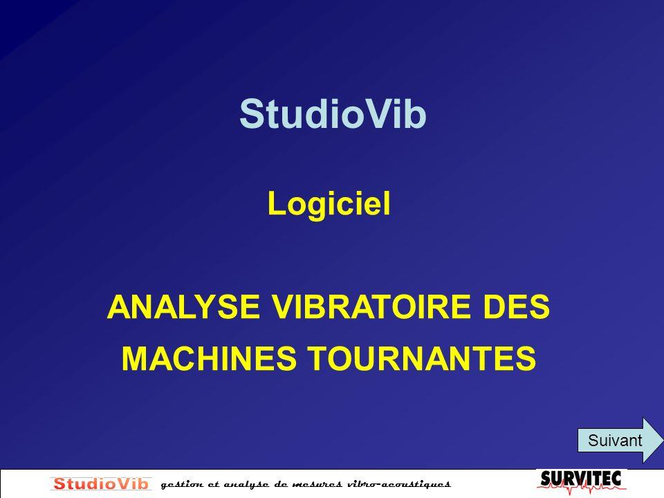 ANALYSE VIBRATOIRE DES MACHINES TOURNANTES