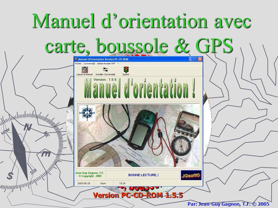 Manuel d'orientation avec carte, boussole & GPS