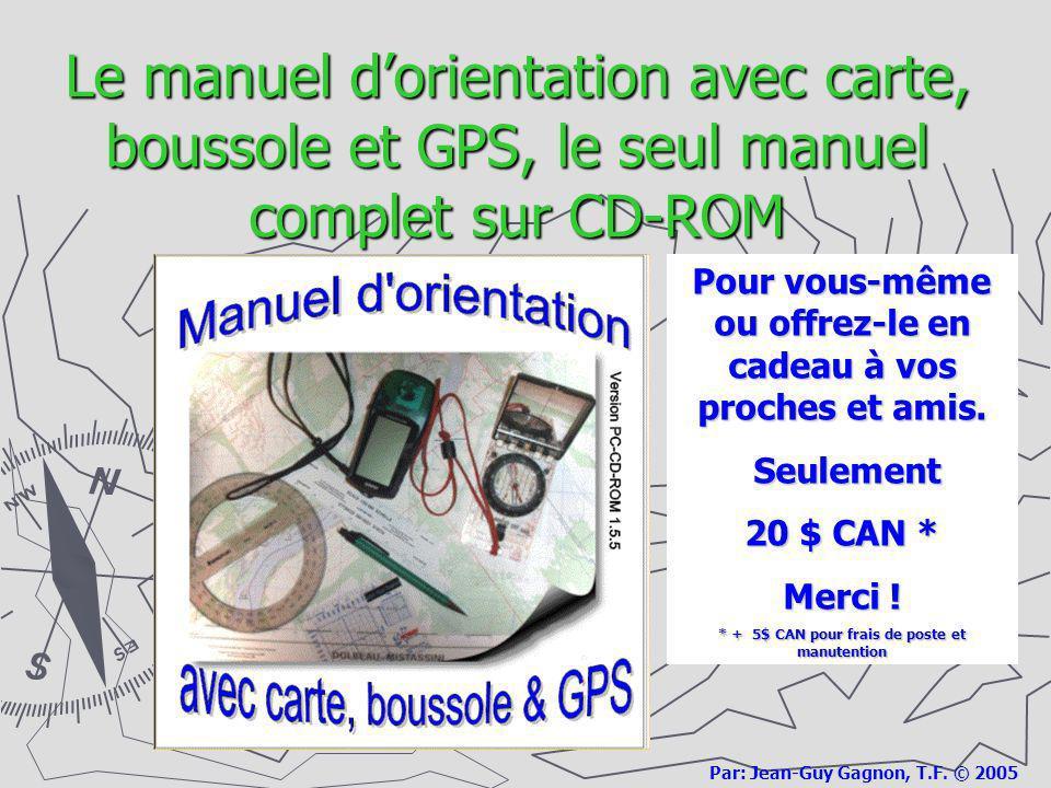 Le manuel d'orientation avec carte, boussole et GPS, le seul manuel complet sur CD-ROM