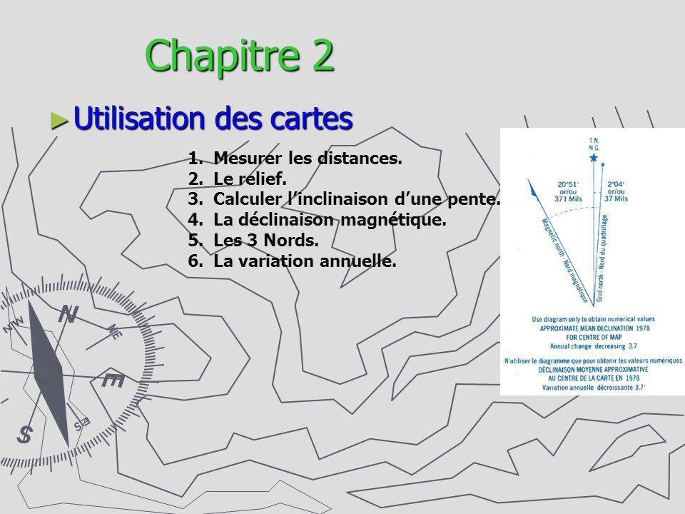 Chapitre 2 Utilisation des cartes Mesurer les distances. Le relief.