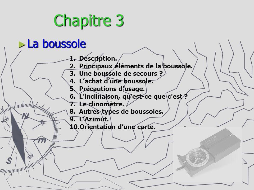 Chapitre 3 La boussole Description.
