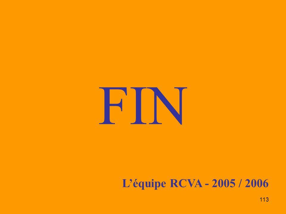 FIN L'équipe RCVA - 2005 / 2006