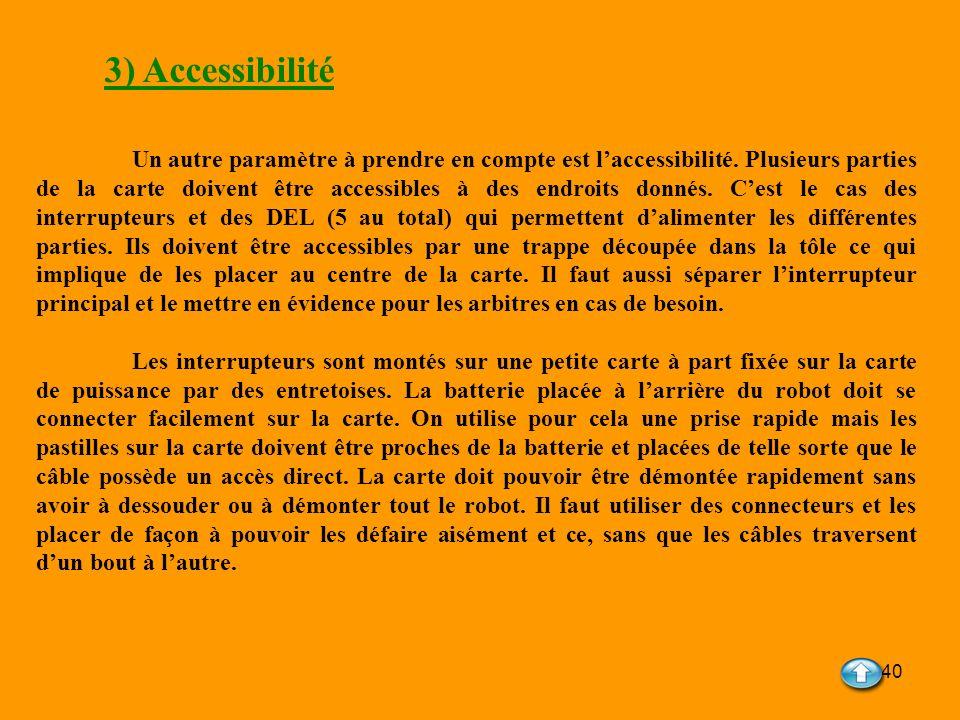 3) Accessibilité