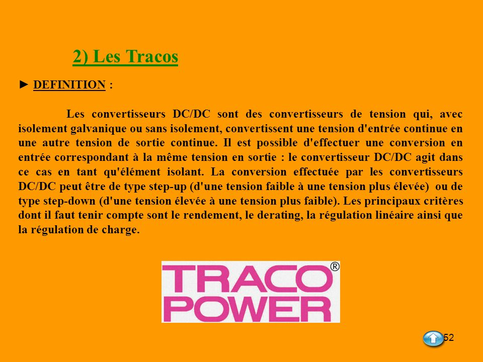 2) Les Tracos ► DEFINITION :