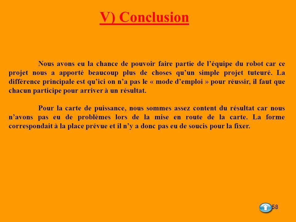 V) Conclusion