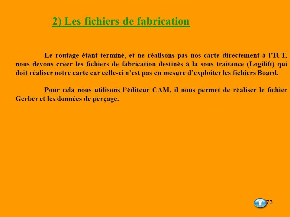 2) Les fichiers de fabrication