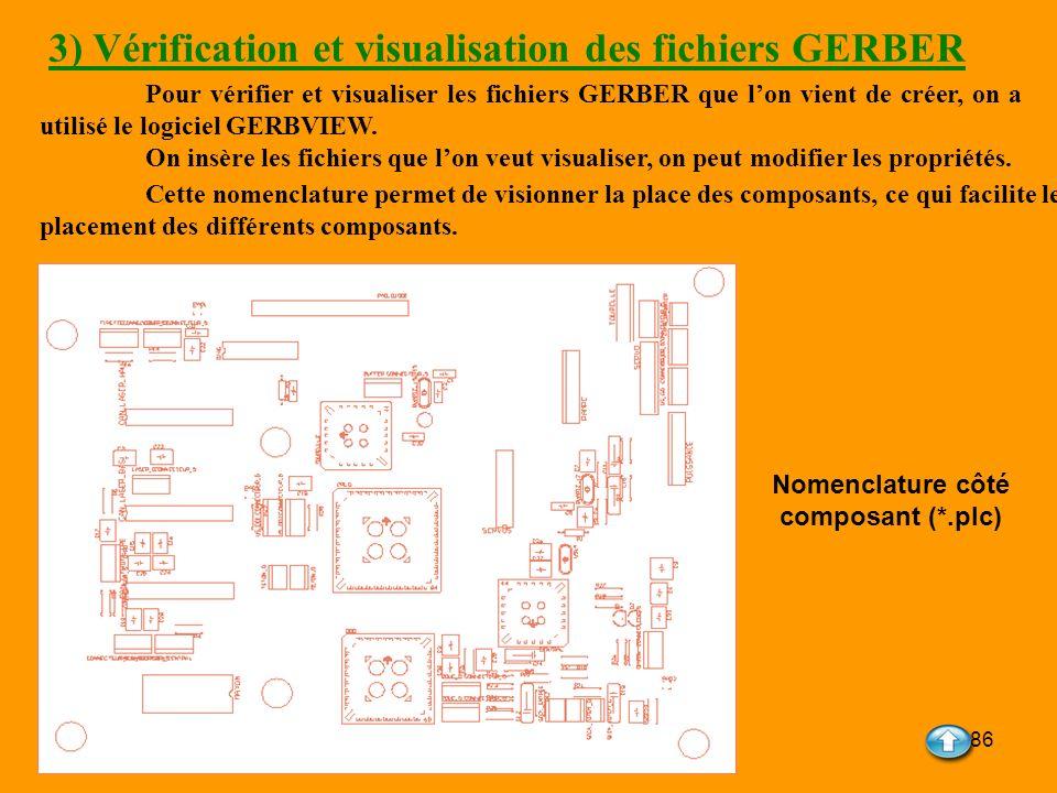 3) Vérification et visualisation des fichiers GERBER