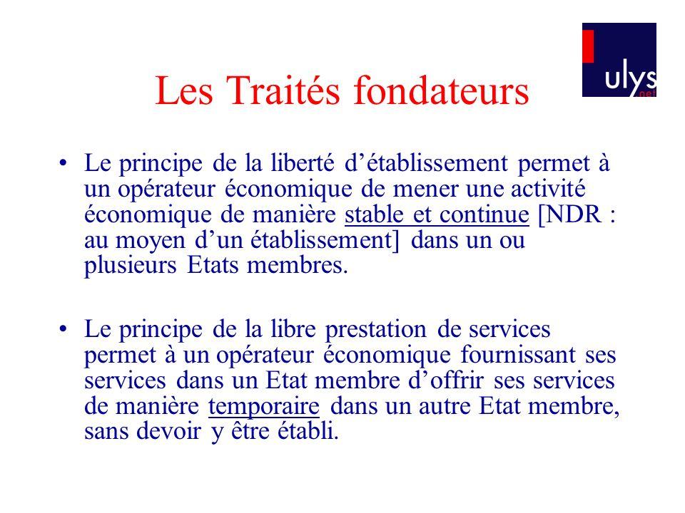 Les Traités fondateurs
