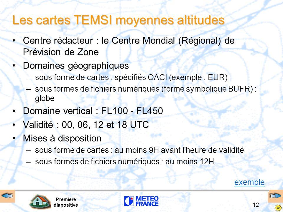 Les cartes TEMSI moyennes altitudes