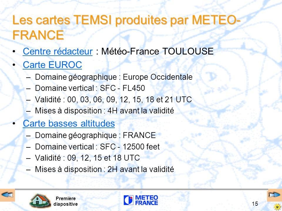 Les cartes TEMSI produites par METEO-FRANCE