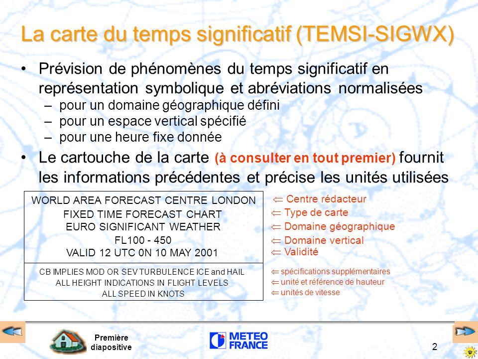 La carte du temps significatif (TEMSI-SIGWX)