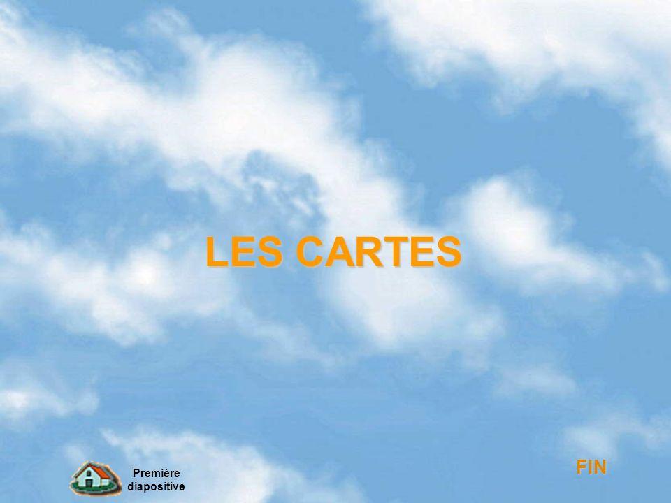LES CARTES FIN Première diapositive