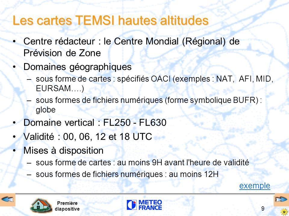 Les cartes TEMSI hautes altitudes