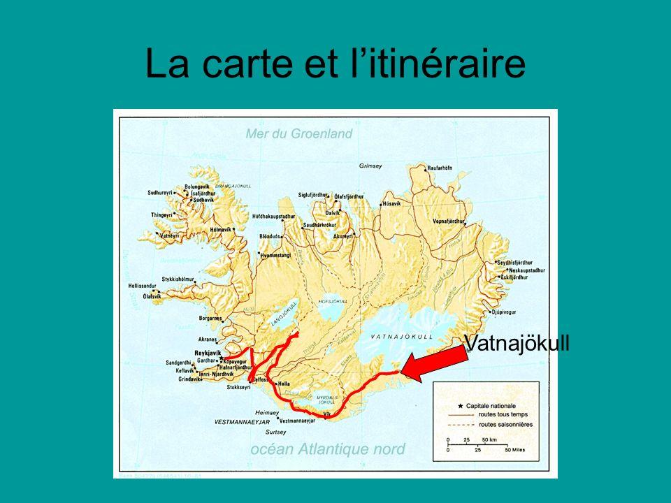 La carte et l'itinéraire