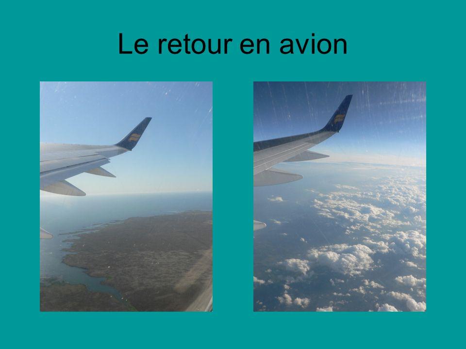 Le retour en avion