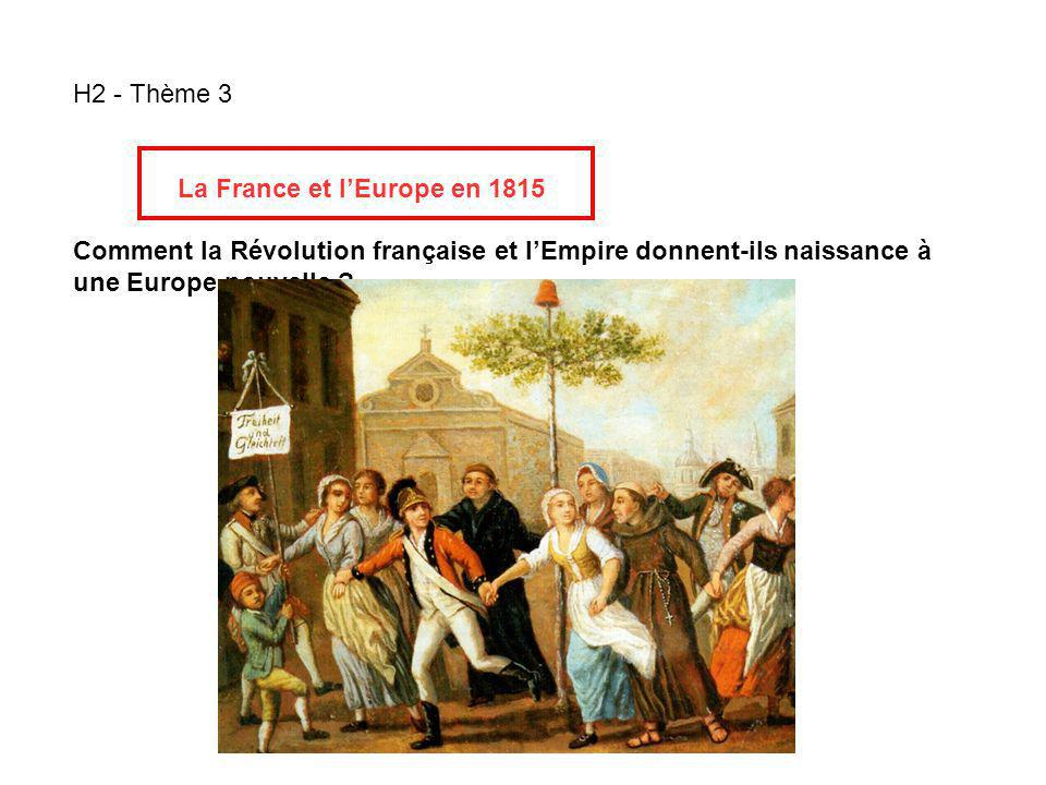 H2 - Thème 3 La France et l'Europe en 1815.