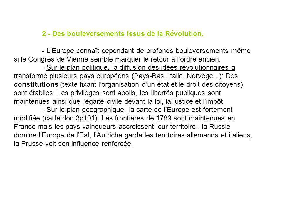 2 - Des bouleversements issus de la Révolution.