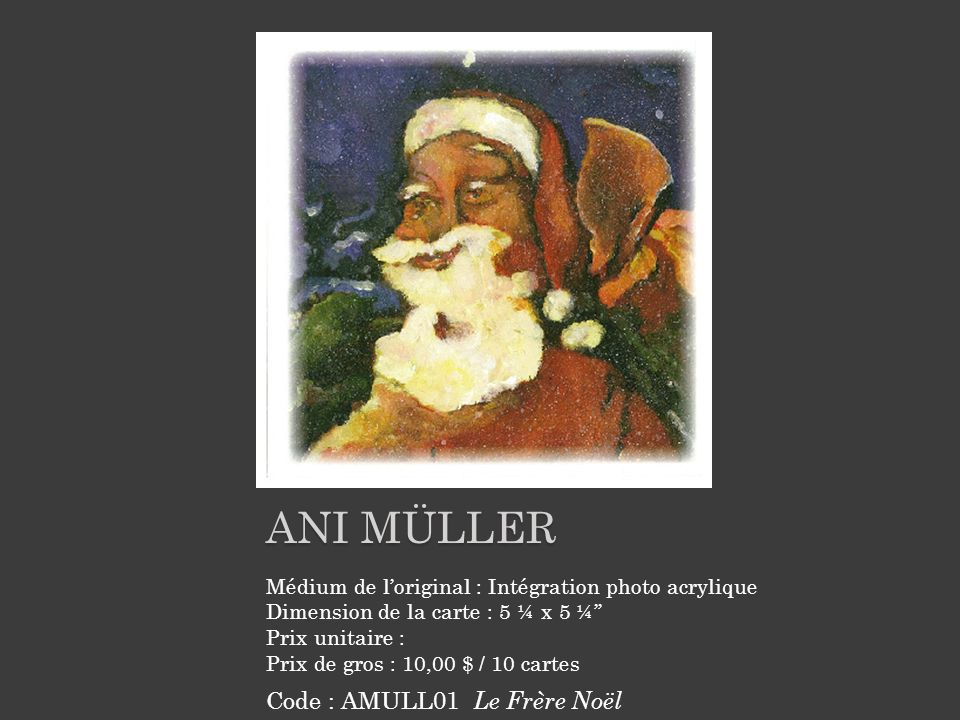 ani müller Code : AMULL01 Le Frère Noël