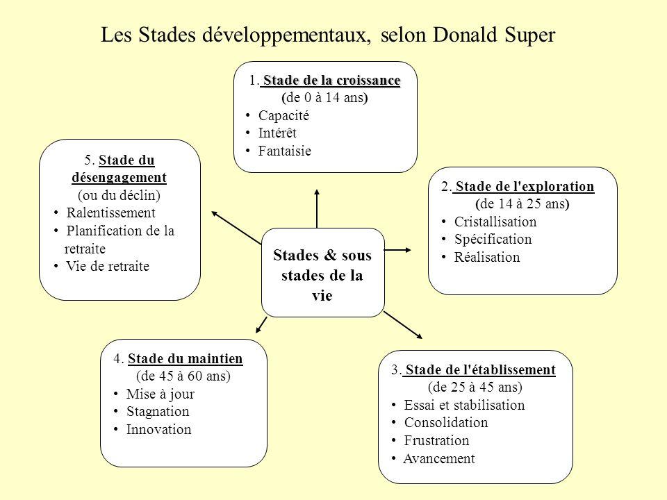 Les Stades développementaux, selon Donald Super