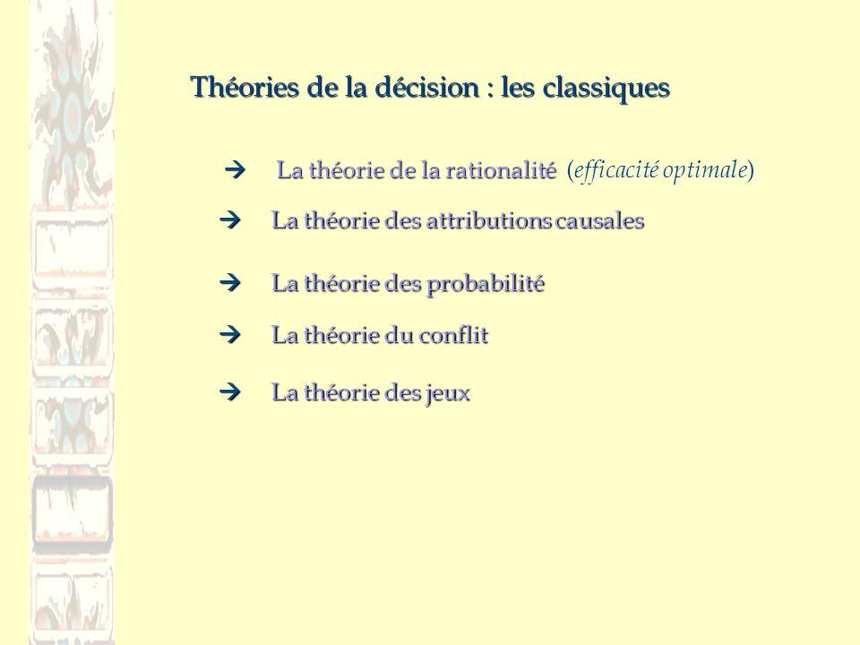Théories de la décision : les classiques