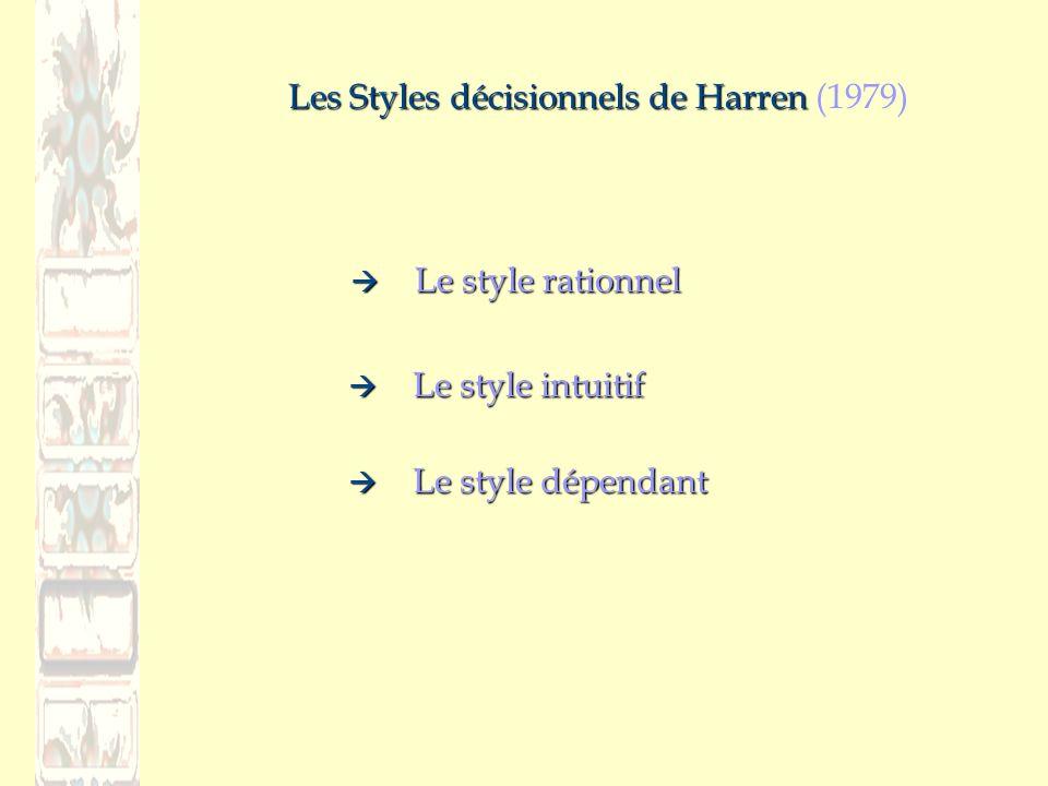 Les Styles décisionnels de Harren (1979)