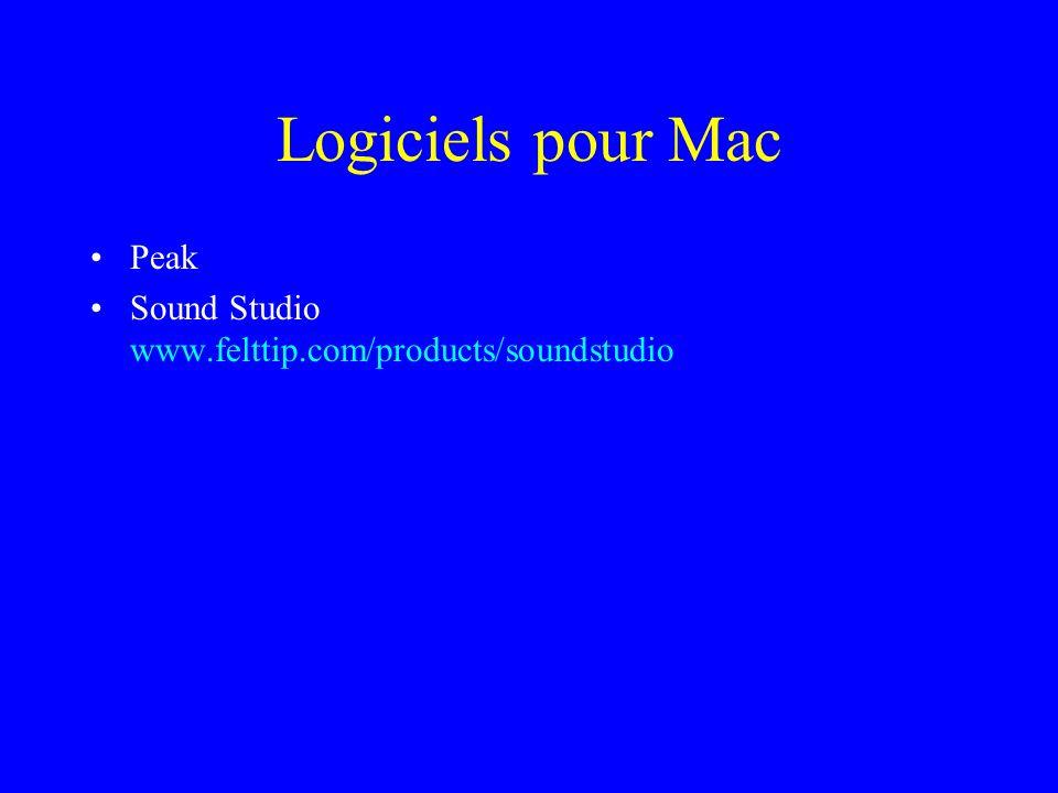 Logiciels pour Mac Peak