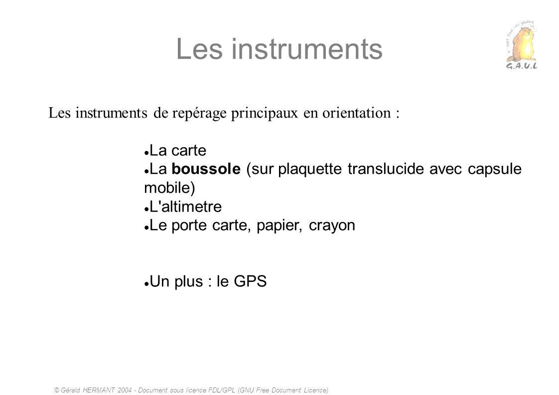 Les instruments Les instruments de repérage principaux en orientation : La carte. La boussole (sur plaquette translucide avec capsule mobile)