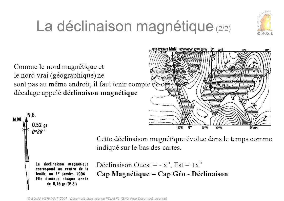 La déclinaison magnétique (2/2)