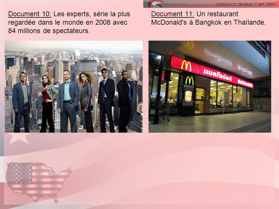 Document 10: Les experts, série la plus regardée dans le monde en 2008 avec 84 millions de spectateurs.
