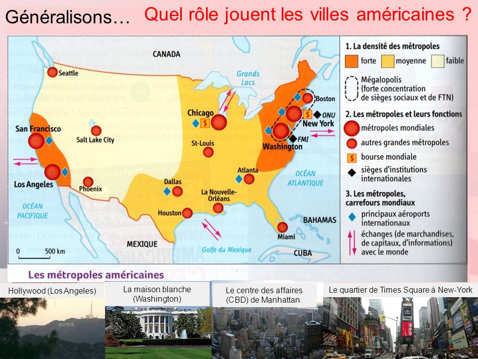 Quel rôle jouent les villes américaines