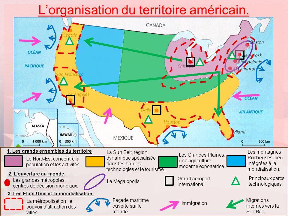 L'organisation du territoire américain.